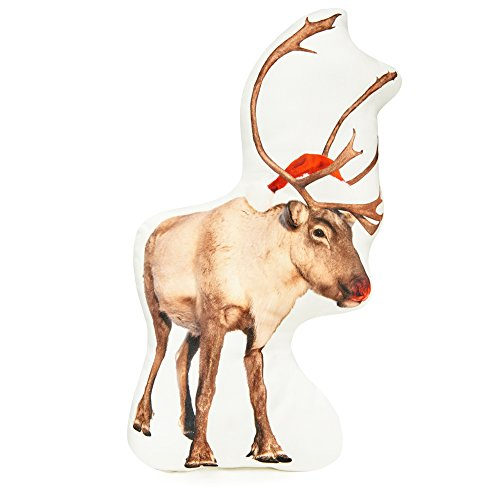 "Cushion Co - Rudolph Reindeer Pillow 16"" x 12"""