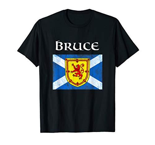 (Bruce Scottish Clan Name T Shirt Coat Arms Lion Flag)
