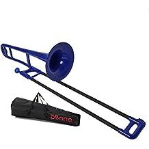 pBone PBONE1B Jiggs Plastic Trombone, Blue