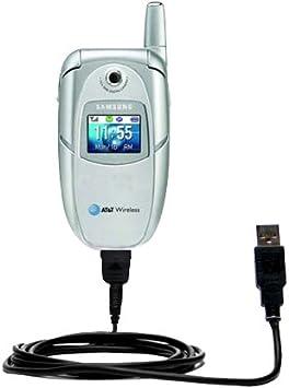 Cable USB recto clásico para SGH-E316 / E317 de Samsung con energía Hot Sync y capacidad de carga con tecnología TipExchange de Gomadic: Amazon.es: Electrónica
