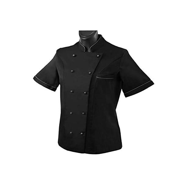 MISEMIYA Chaquetas Chef Cocinera Mangas Cortas Mujer 3