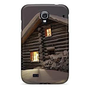 Galaxy S4 Cover Case - Eco-friendly Packaging(quaint Wooden Lodge)
