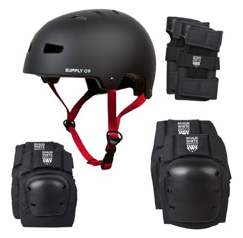 Shaun White Supply 4-in-1 Combo Helmet Pad, Small/Medium, Black
