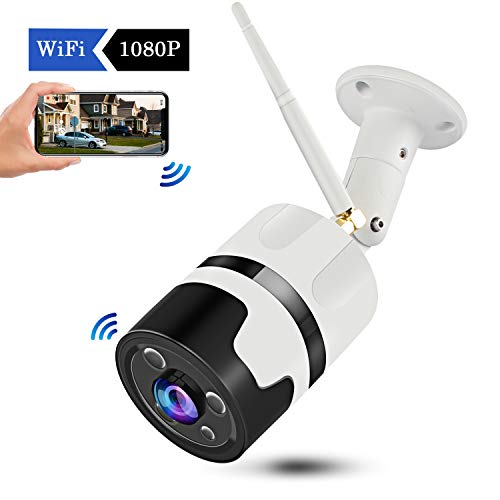CHORTAU【2019 New Version】Outdoor Wireless Security Camera, Waterproof WiFi IP Camera With FHD 1080P, 180° Wide Angle Wireless Wifi Camera Home Surveillance Bullet Camera With Motion Detection, Night Version