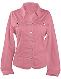 Amazon.com: Pink - Denim Jackets / Coats, Jackets & Vests ...
