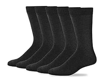 Dockers Men's Classics Dress Flat Knit Crew Socks Multipacks, Charcoal, Shoe 6-12 Size: 10-13