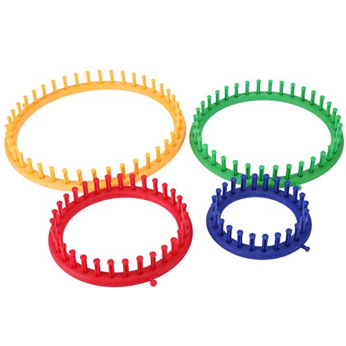 Colorful Knitting Machine | Knitting Loom Set | Round Circle Hat Knitter Wool Yarn Needles Hook | Sewing Tools for Hats Scarves