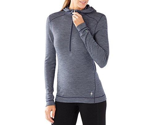 Smartwool Women's Base Layer Top - Merino 250 Wool Active 1/2 Zip Hoodie