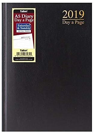 Agenda de escritorio 2019 A5 con páginas de día a página ...