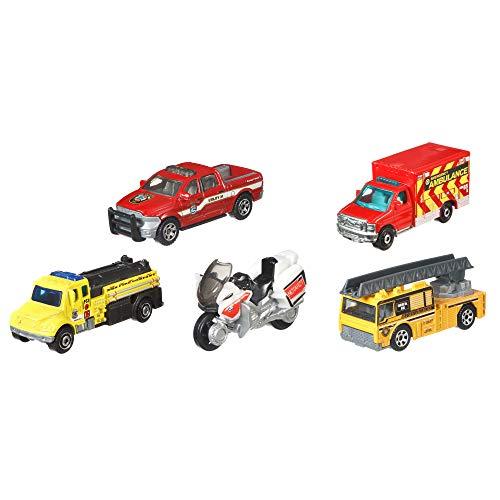 Matchbox Fire Fire Rescue Vehicles, 5 Pack ()