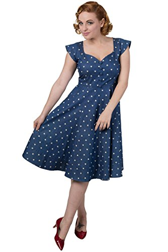 Pencil Blue Banned Vintage Treat Retro Dress Sweet 6wIqazxZ