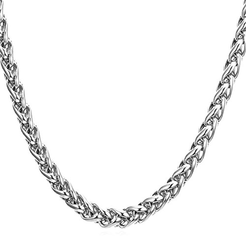 Nakabh Stainless Steel Elegant Statement Necklace Chain for Boys and Men