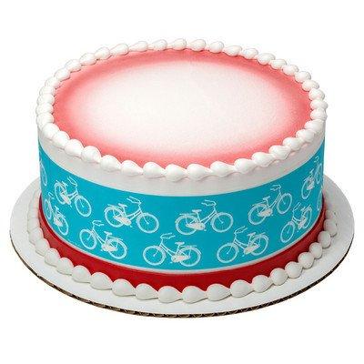 Tiras comestibles para tartas, diseño de bicicletas: Amazon ...