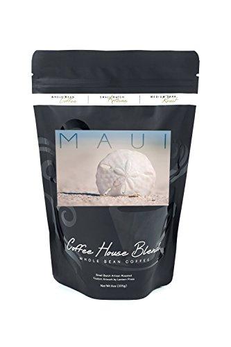Maui - Sand Dollar on Beach (8oz Whole Bean Small Batch Artisan Coffee - Bold & Strong Medium Dark Roast w/ - Maui Dollar