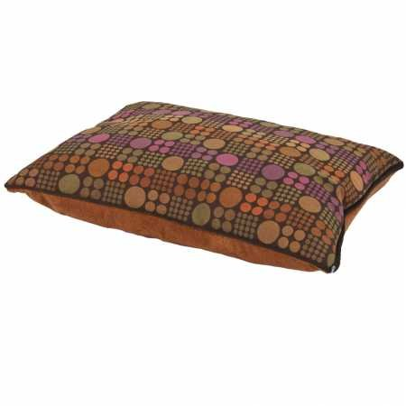 Petmate 80141 Fashion Pillow Pet Bed, 27 by 36-Inch, Assorted (Glazed Ginger with Multi Dot Jacquard)