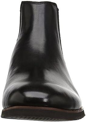 17e4110f8e8 Steve Madden Men's Leston Chelsea Boot, Black Leather, 7.5 M US ...