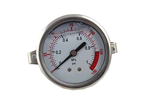 Malida The Water Filter Water Stainless Pressure Gauge For Aquarium Meter 0-1.6MPa 0-220psi Reverse Osmosis System Pump With 1/4 by Malida