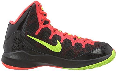 Nike Hommes Zoom Sans Aucun Doute Chaussure De Basket-ball Noir / Brillant Cramoisi / Chrome / Volt