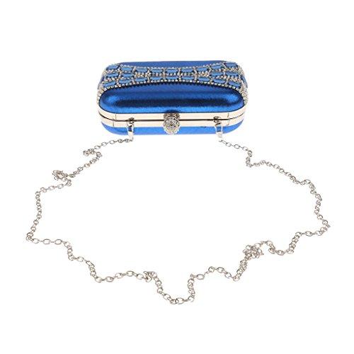 Nozze Diamante Pochette Sposa Borsa Frizione Sera Di Spalla Cerimonia Nuziale Elegante Eventi Blu reale