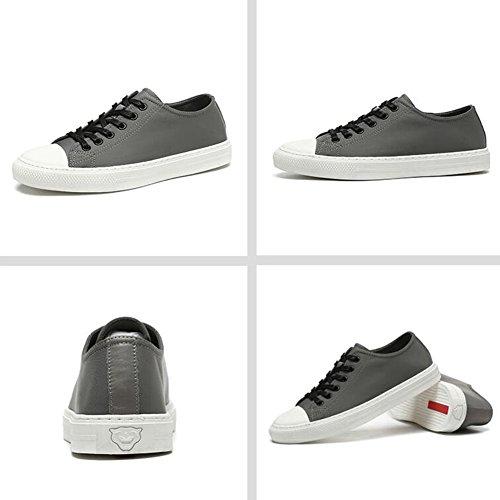 QIDI Chaussures Décontractées Homme Angleterre Respirant Confortable Résistant À L'usure Chaussures De Toile (Couleur : T-4, Taille : EU40/UK7) T-2