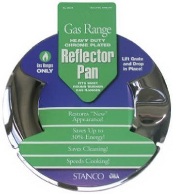 Stanco Range Reflector Pan Gas Chrome Plated Steel, Porcelain 7 In. by Stanco Metal Prod