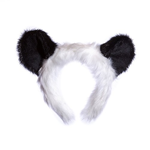 Wildlife Tree Plush Panda Bear Ears Headband Accessory for Panda Costume, Cosplay, Pretend Animal Play or Safari Party (Good Fat Guy Costumes)