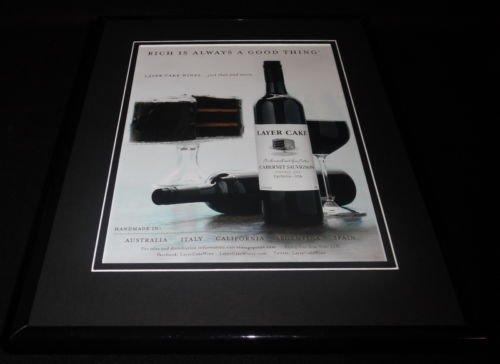 2015 Layer Cake Wine 11x14 Framed ORIGINAL Advertisement D