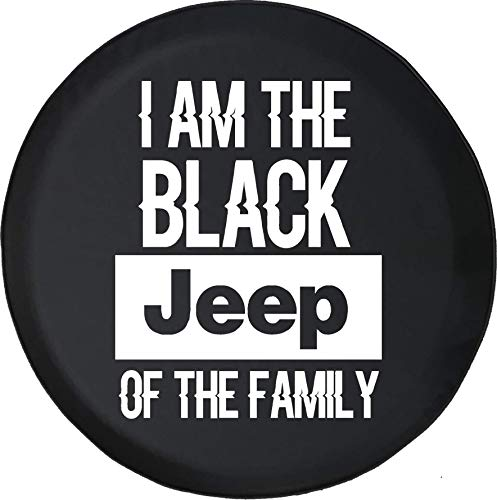 (Spare Tire Cover Black Jeep of The Family Fits Jeep Tire Cover or Jeep Wrangler or RV 32 Inch)