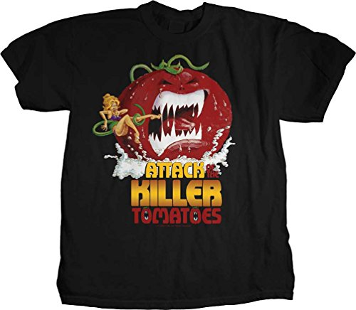 Attack of the Killer Tomatoes - Womens Movie Poster T-Shirt, Size: X-Large, Color: Black