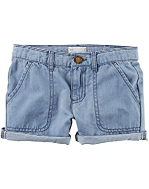 Baby Girls' Chambrey Roll Shorts