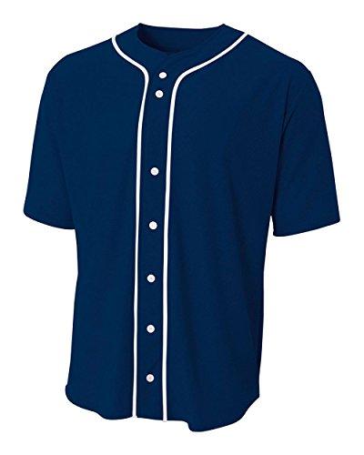 Navy Blue Adult Adult 3XL (Blank) Sports Uniform Jersey Shirt