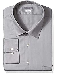Men's Big and Tall Dress Shirts Lux Sateen Stretch Solid Big Fit