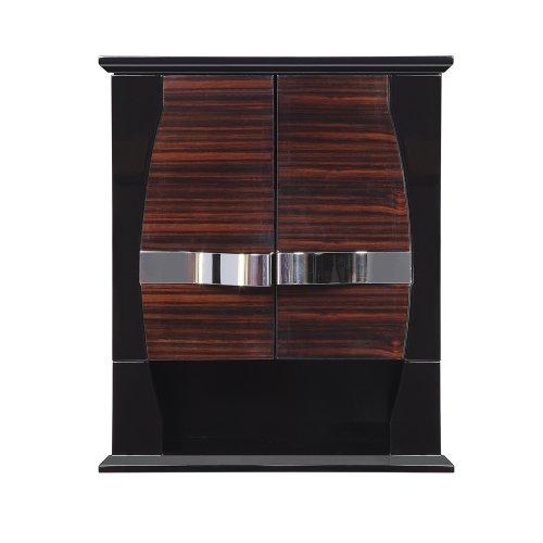 (DECOLAV 5262-EBG Natasha 22-Inch Wall Cabinet, Ebony Black Gloss)