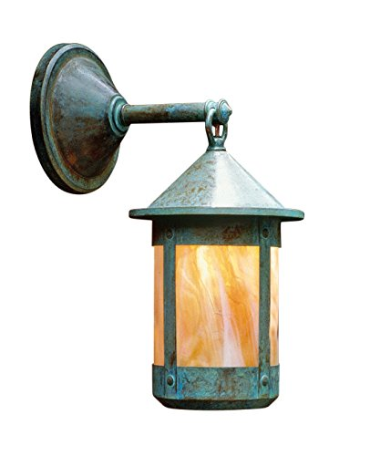 Arroyo Craftsman BB-6WCS-RB Berkeley Wet Rated Wall Mount Light Fixture, 6
