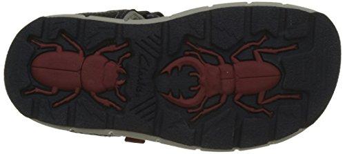 Clarks Jolly Wild Inf, Sandalias de Talón Abierto Para Niños Azul (Navy Leather)