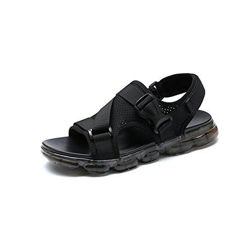 YQQ クールな旅行靴 サンダル 男性の靴 カジュアルシューズ ホリデーシューズ メンズシューズ ビーチの靴 夏 男の子 滑り止め 居心地の良い (色 : 黒, サイズ さいず : EU39/UK6)