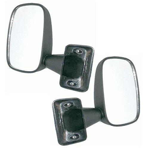 (Black Manual Mirrors Left LH & Right RH Pair Set for 79-83 Toyota Pickup Truck)