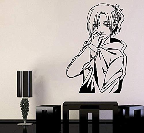 Attack on Titan Wall Vinyl Decal Cartoon Anime Wall Art Annie Leonhart Vinyl Sticker Decor for Home Bedroom -