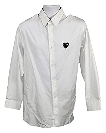 b5df62755dd44 J Crew PLAY Comme Des Garcons Black Heart Button-Down Shirt 03647 ...