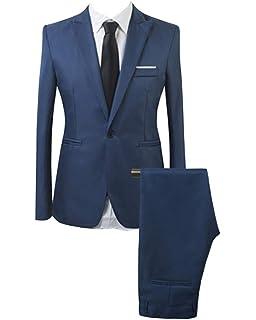 2 Piezas Blazer de Vestir Clásico para Hombre Trajes de ...