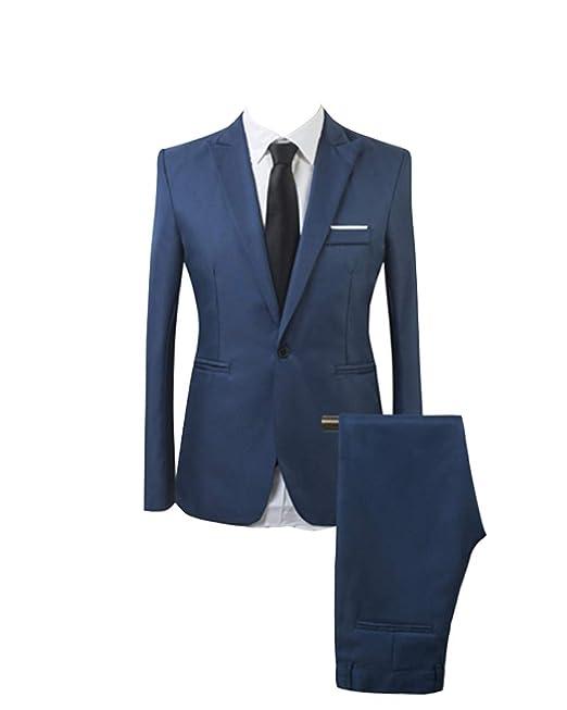 AnyuA Traje Suit de 2 Piezas Manga Larga Blazers para Hombre  Amazon.es   Ropa y accesorios 996be7229eaf