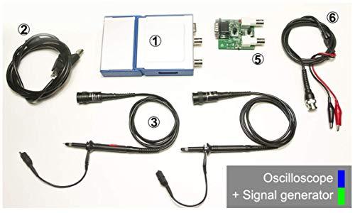 - LOTO Oscilloscope + Function Generator,OSC482S,2-Channel Oscilloscope Sampling Rate 50MS/s Bandwidth 20MHz + 1-Channel Function Generator 13MHz