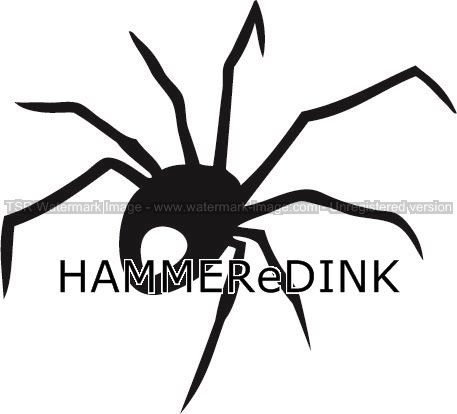 Black Widow Spider Die Cut Vinyl Truck & Car Decal Window Sticker Hammered Ink