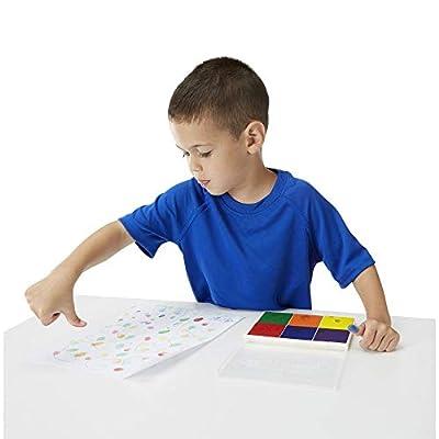 Melissa & Doug Rainbow Stamp Pad - 6 Washable Inks: Toys & Games