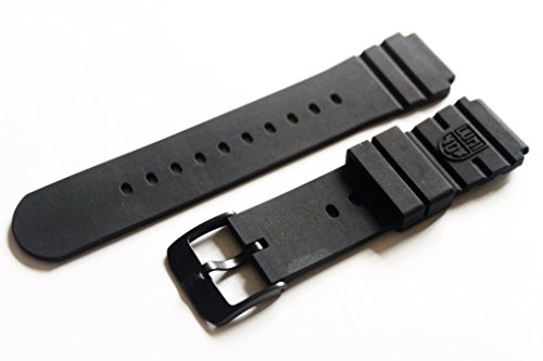 - Luminox Rubber 3000 Series FP.L.DPB Black Out Navy Seal Watch Band With PVD Buckle
