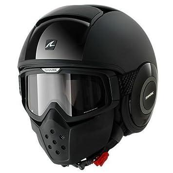 Shark casco de moto, talla L, Drak Dual, negro