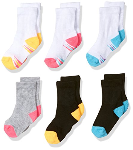fruit-of-the-loom-baby-girls-crew-6-pack-sock-assorted-4-85