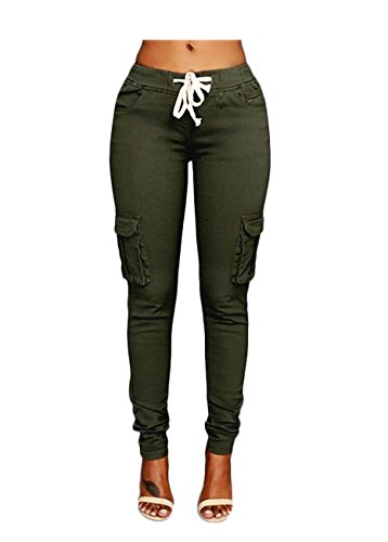 OLUOLIN Womens Stretch Drawstring Joggers product image