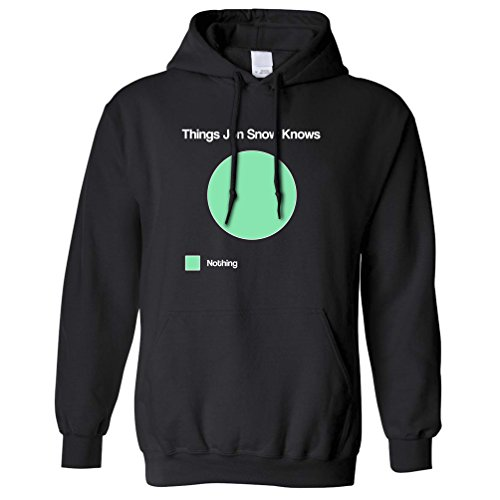 You Know Nothing Hoody Jon Snow Funny Thrones Quote Inspired Ygritte Stark