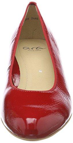 Rosso Knokke Donna Scarpe 79 Tacco rosso Ara Punta Chiusa Col AxwxOd0